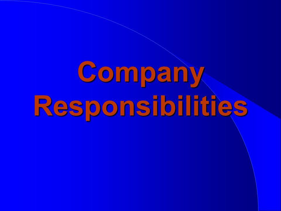 Company Responsibilities