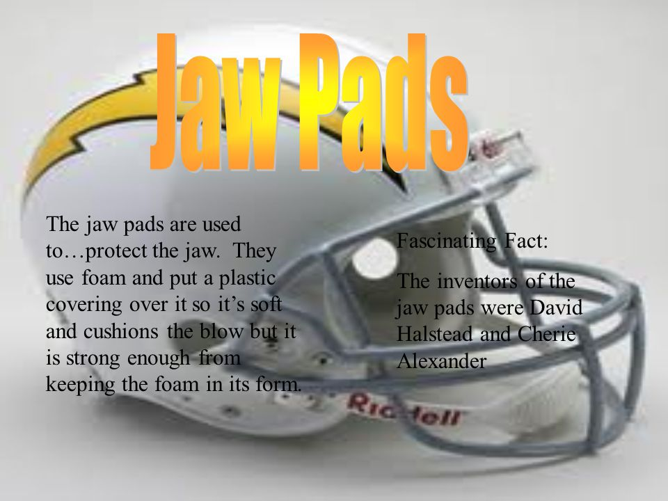 The jaw pads are used to…protect the jaw.