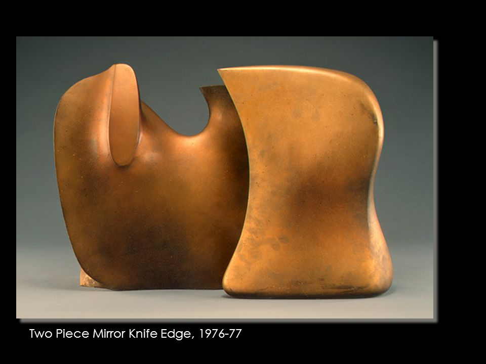 Henry Moore Sculpture Examples Two Piece Mirror Knife Edge, 1976-77