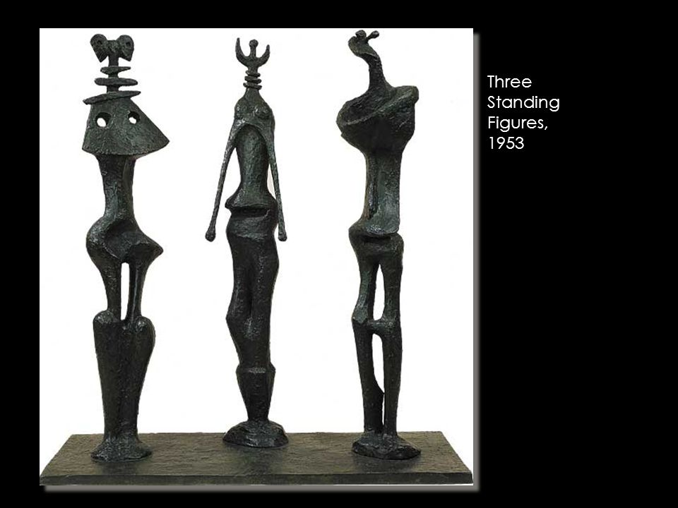 Three Standing Figures, 1953