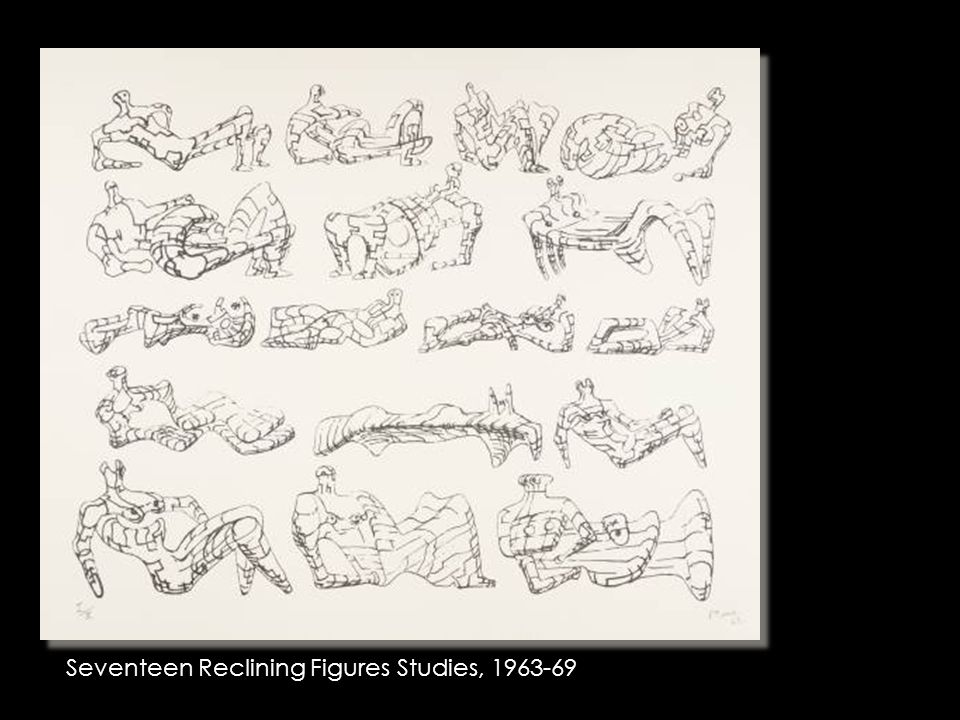 Seventeen Reclining Figures Studies, 1963-69