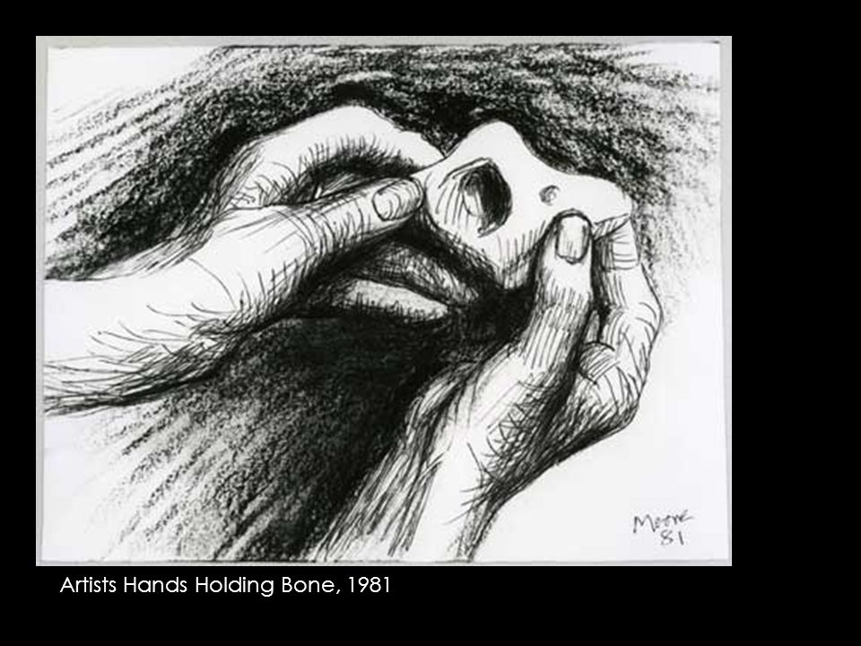 Artists Hands Holding Bone, 1981