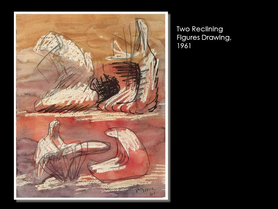 Two Reclining Figures Drawing, 1961