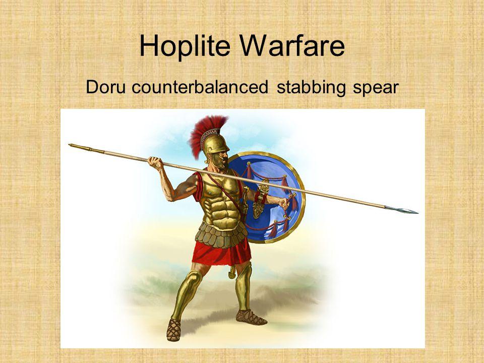 Doru counterbalanced stabbing spear