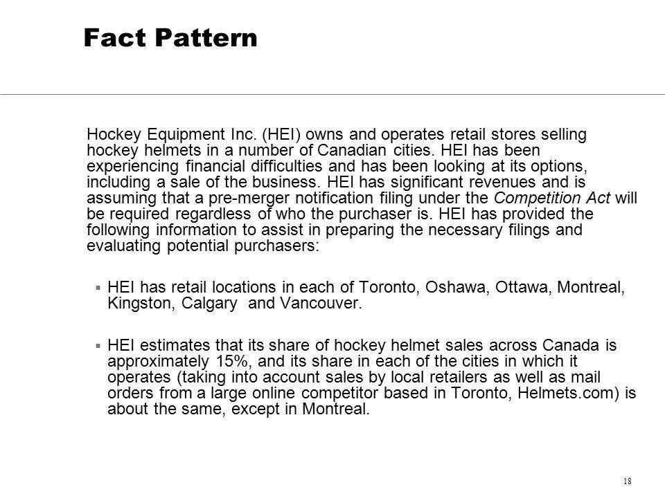 18 Fact Pattern Hockey Equipment Inc.