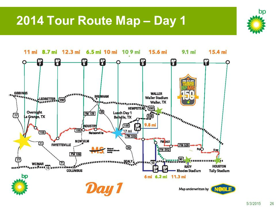 5/3/201526 2014 Tour Route Map – Day 1