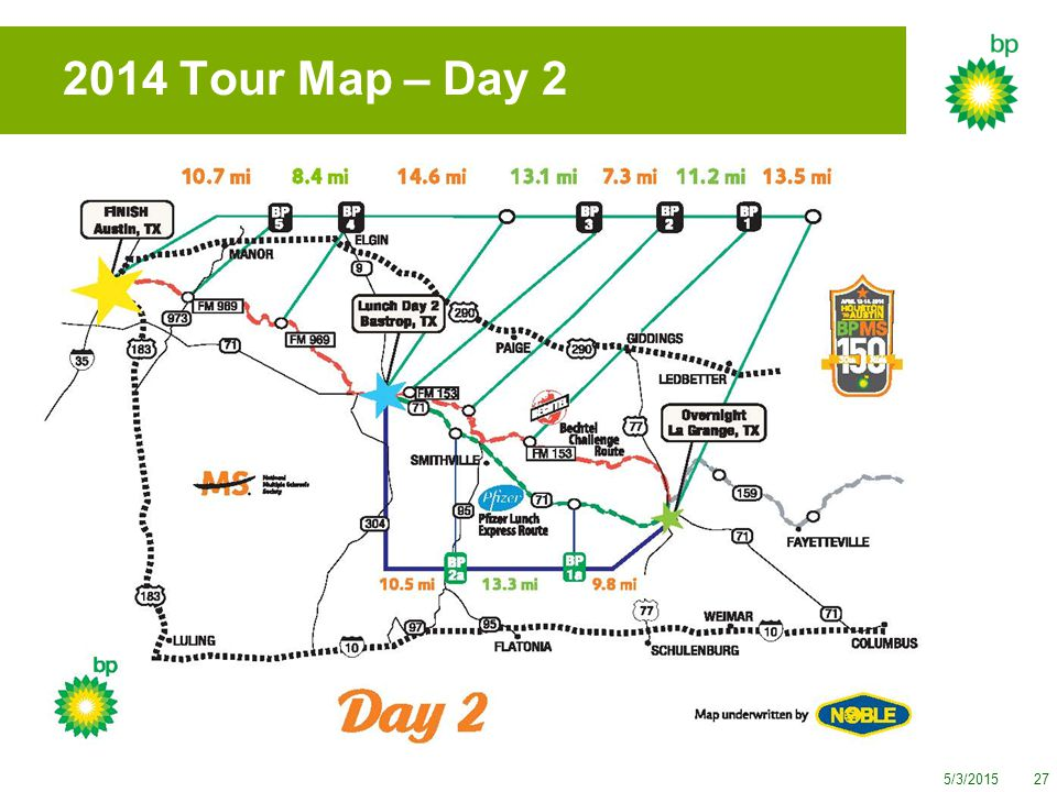 5/3/201527 2014 Tour Map – Day 2