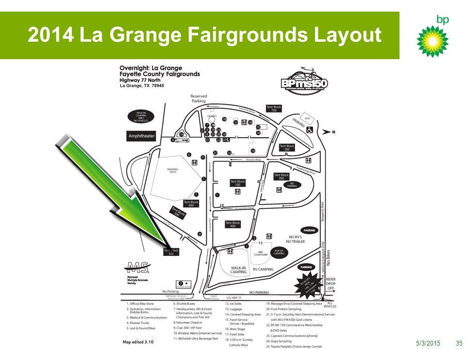 5/3/201535 2014 La Grange Fairgrounds Layout