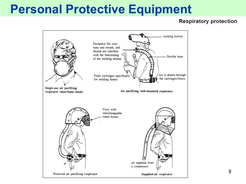 9 Personal Protective Equipment Respiratory protection