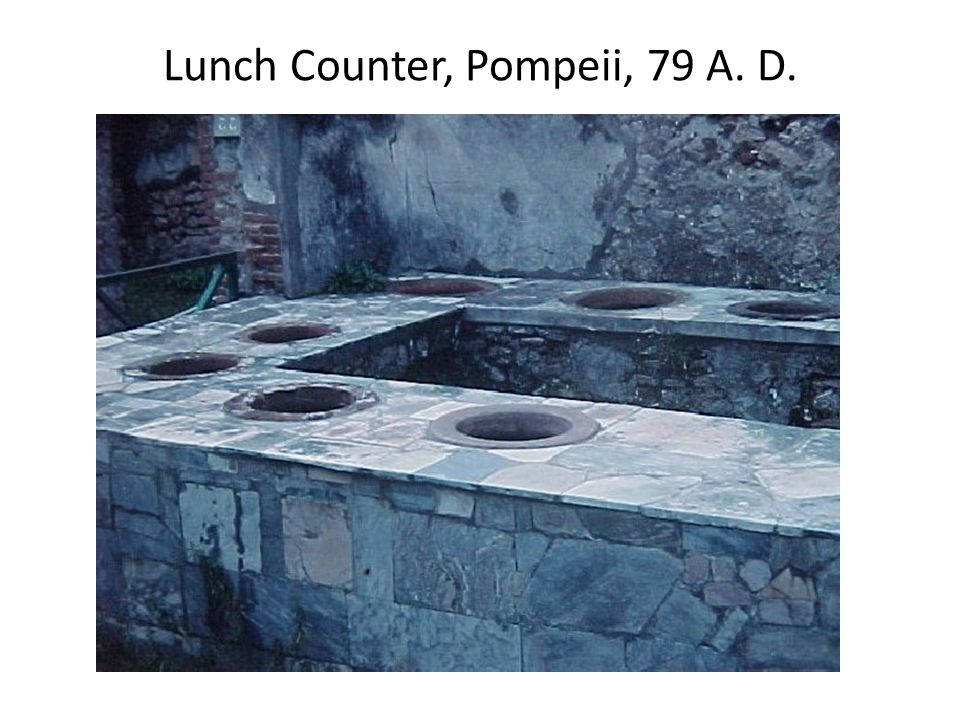 Lunch Counter, Pompeii, 79 A. D.