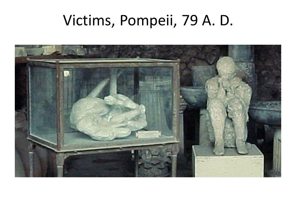Victims, Pompeii, 79 A. D.