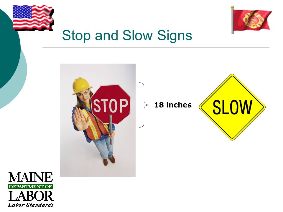 Stop and Slow Signs 18 inches