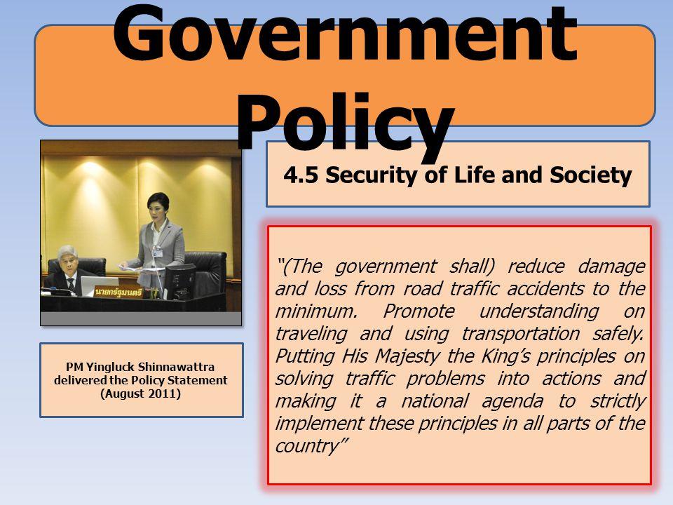 Thailand Road Safety Master Plan (2009- 2012) 1.Urgent National Agenda 2.