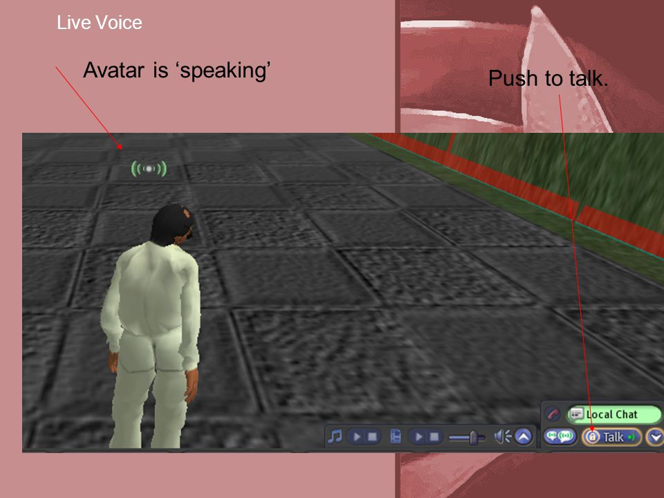 Live Voice Avatar is 'speaking' Push to talk.
