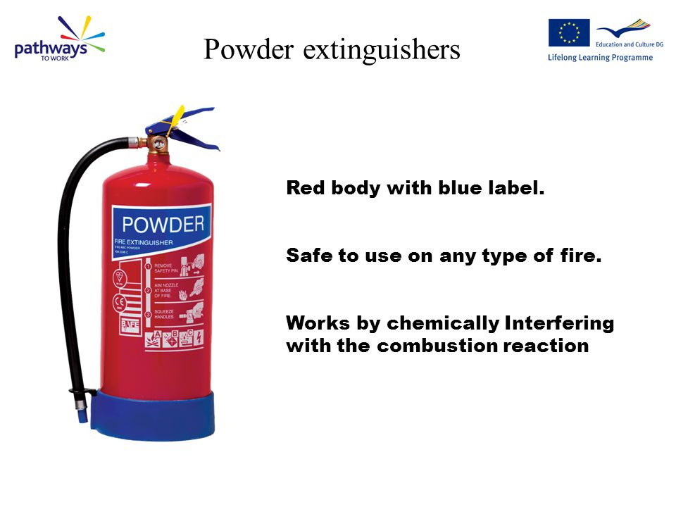 Foam extinguishers Red Body with Cream label.