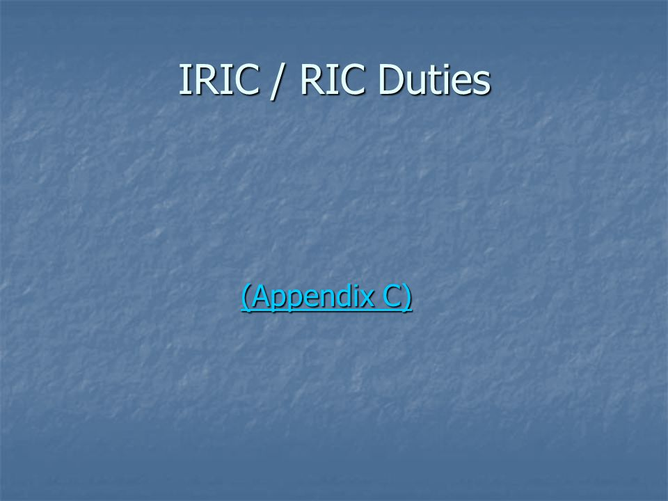Differences – IRIC vs.