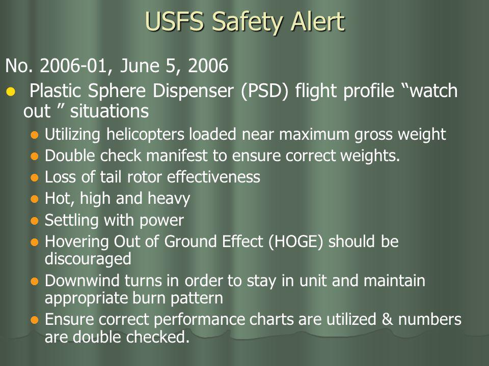 USFS Safety Alert No.