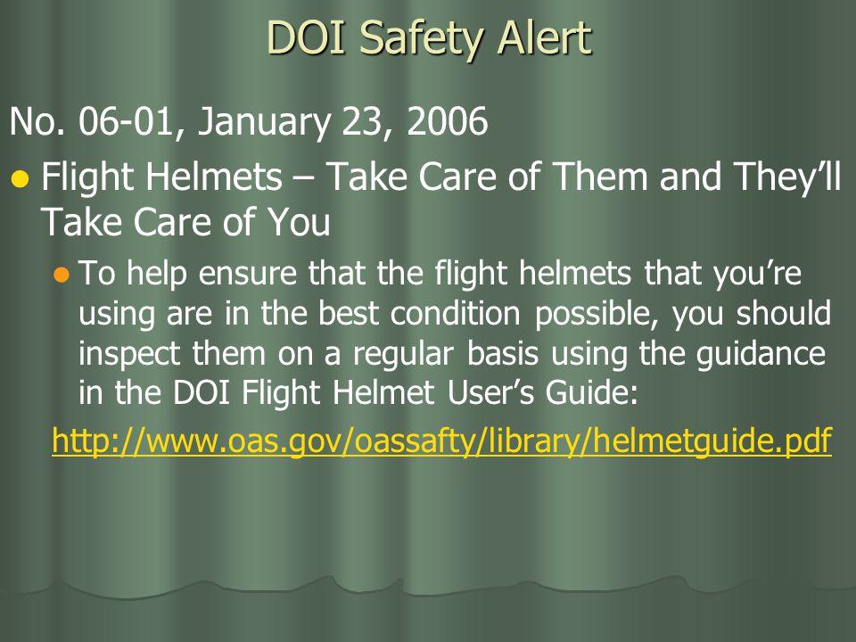 DOI Safety Alert No.
