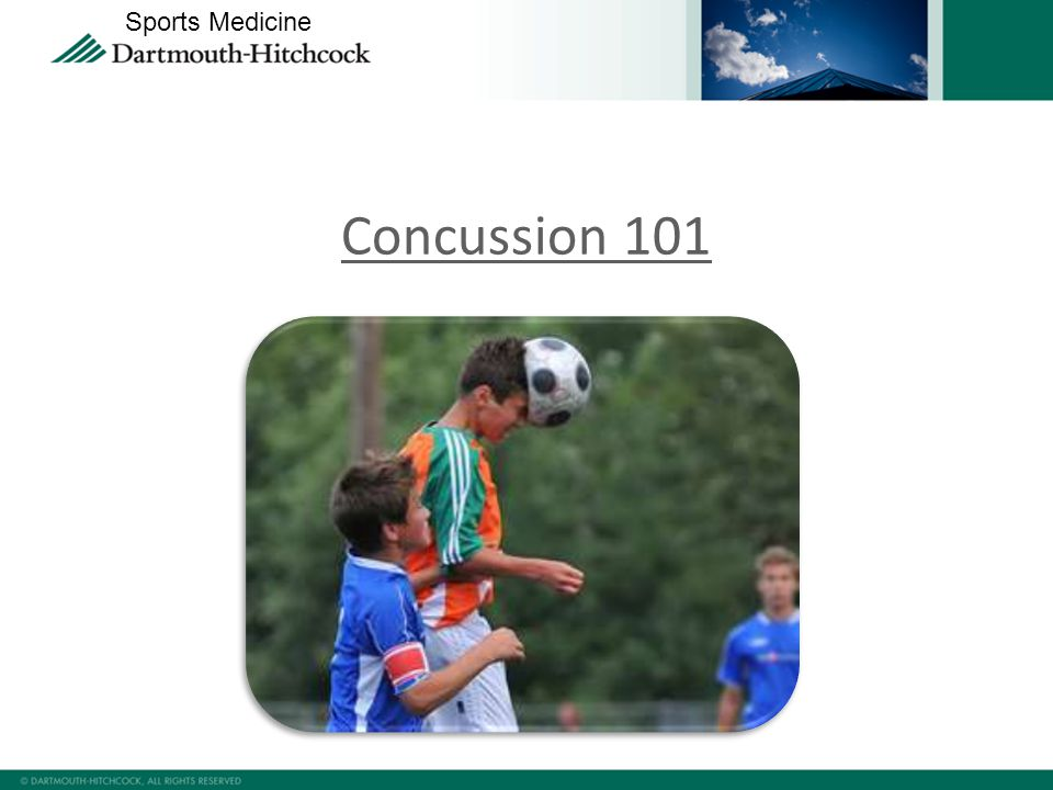 Concussion 101 Sports Medicine