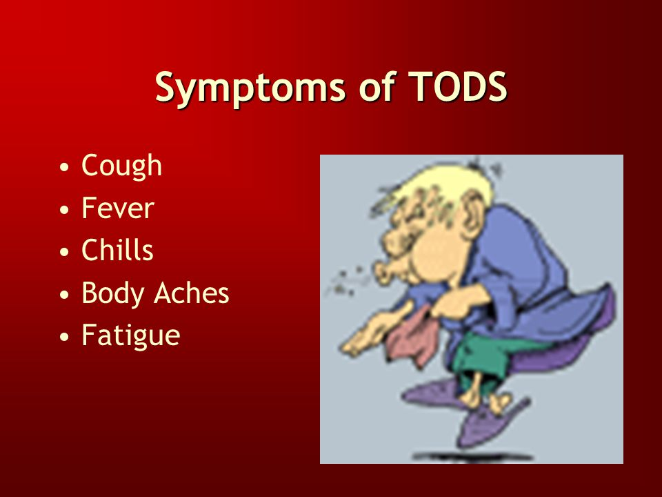 Toxic Organic Dust Syndrome (TODS) TODS is an allergic reaction like Farmer's Lung. Severity of the reaction does not increase with subsequent exposur
