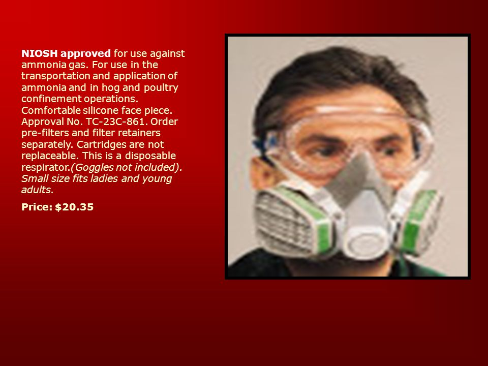 Chemical Cartridge Respirators Uses: Dusts and Gases –When going to be in contact with dusts and chemical vapors, this is the best choice. Filtering M