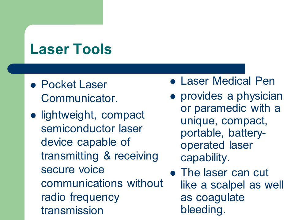 Laser Tools Pocket Laser Communicator.