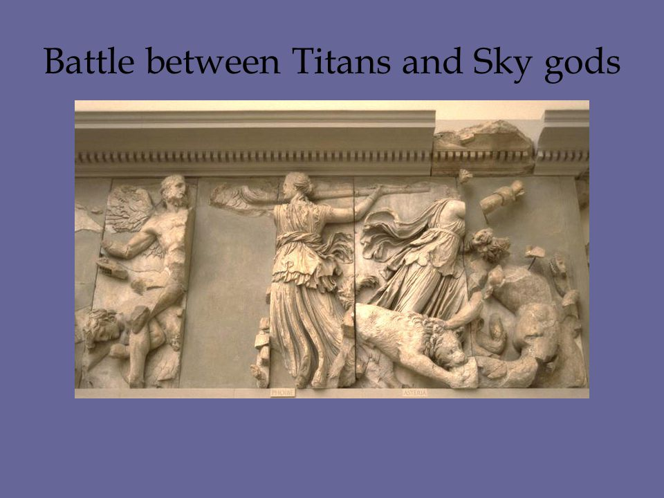 Battle between Titans and Sky gods