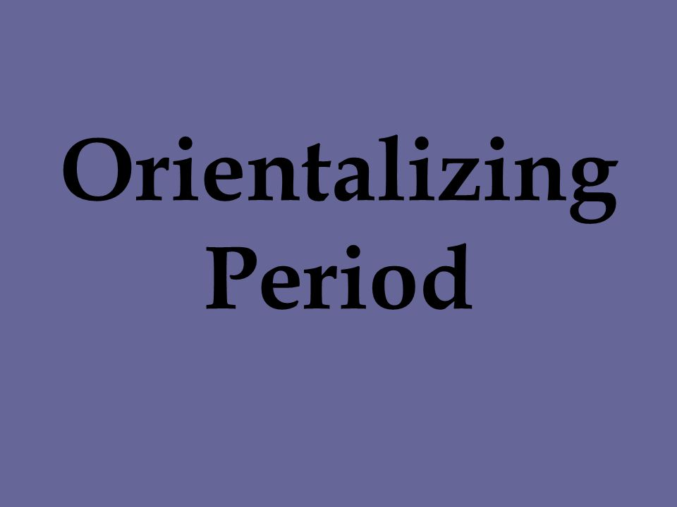 Orientalizing Period