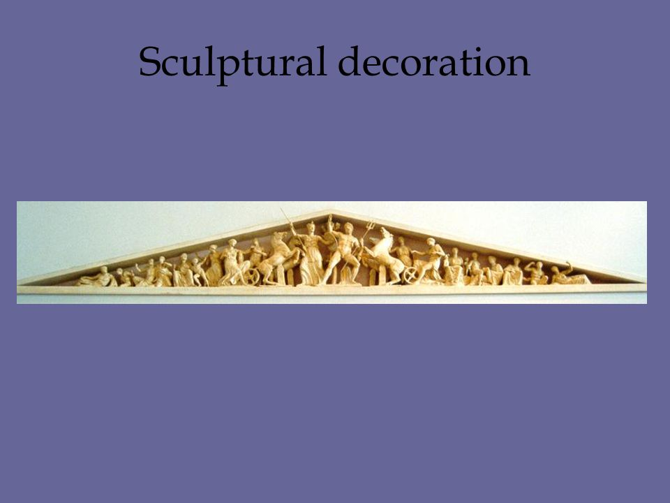 Sculptural decoration
