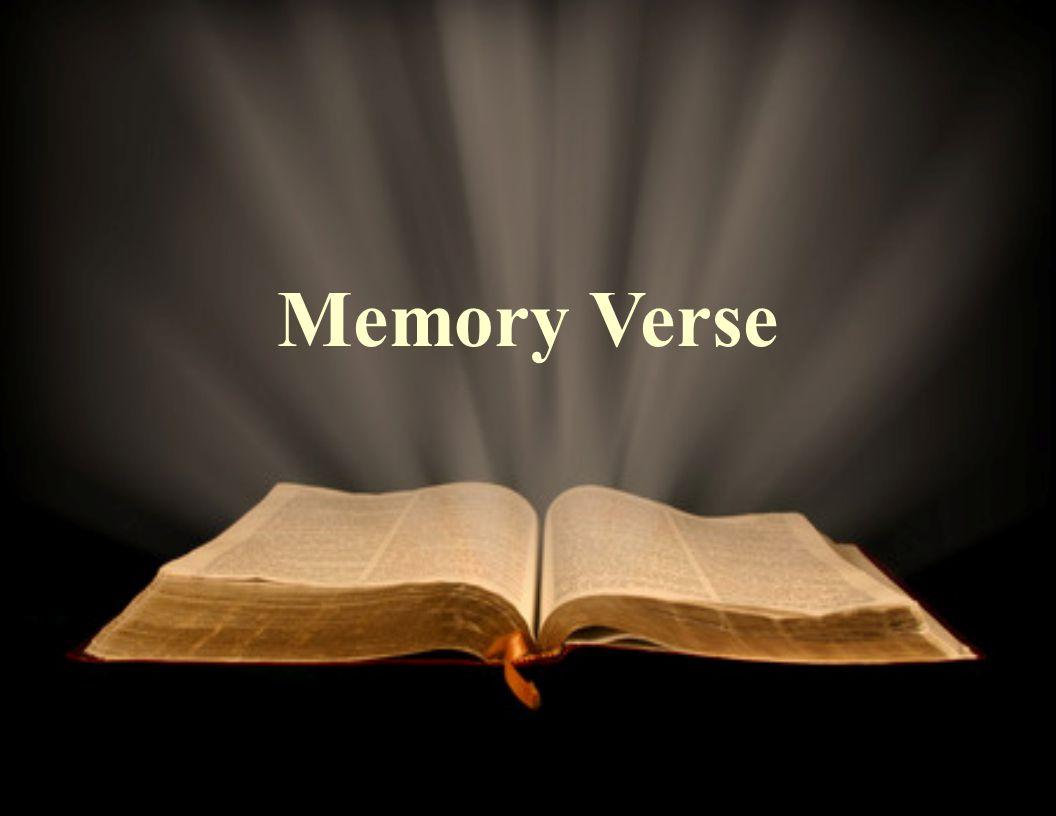 Memory Verse