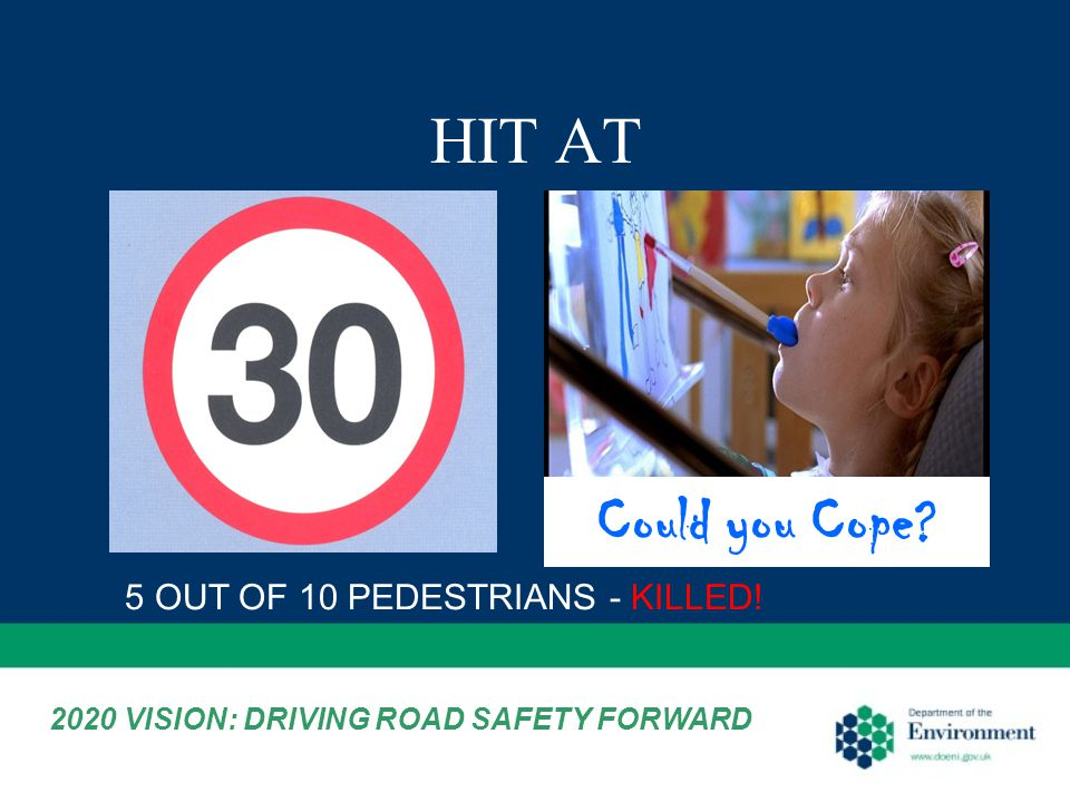 HIT AT 5 OUT OF 10 PEDESTRIANS - KILLED! Could you Cope 2020 VISION: DRIVING ROAD SAFETY FORWARD