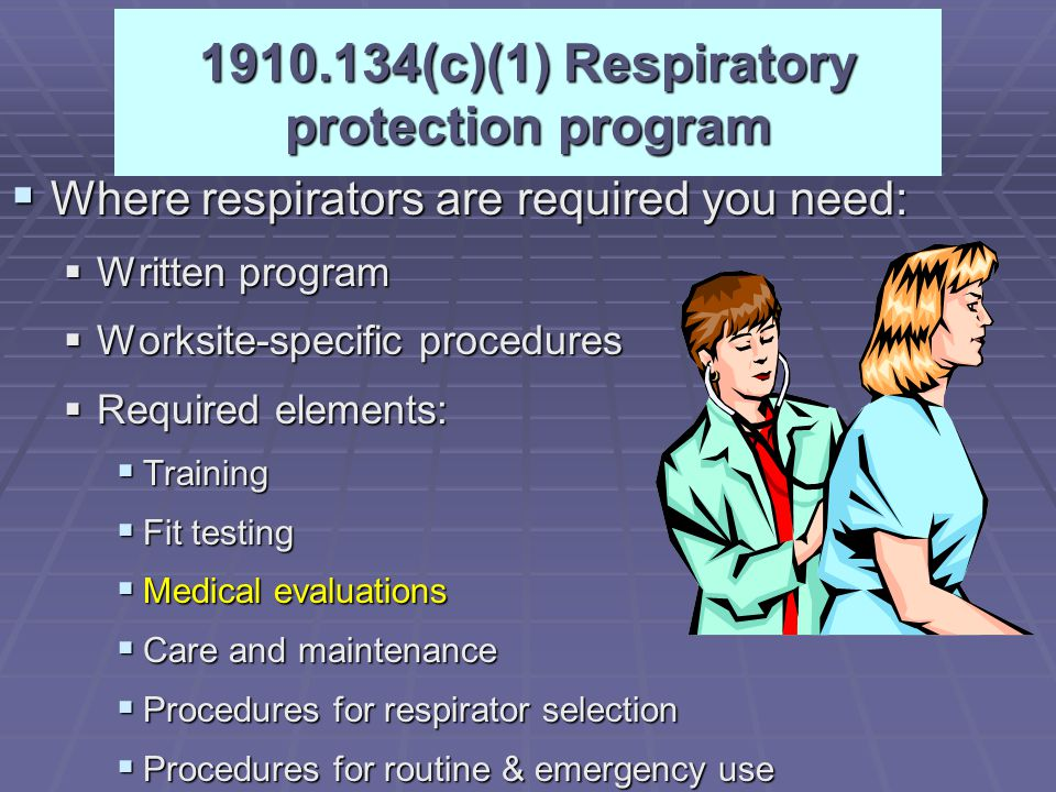 5/3/2015Industrial Safety Lecture Two28 Respiratory Protection  Filter Respirators  Air-Purifying-particles and gases  Particulate-dusts and mists
