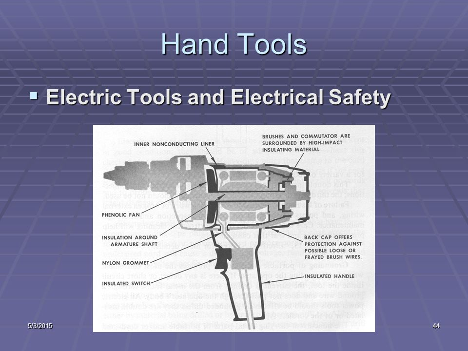 5/3/2015Industrial Safety Lecture Two43 Hand Tools  Knives