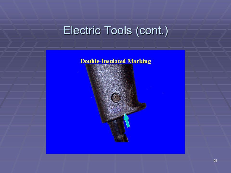 Electric Tools (cont.) 58
