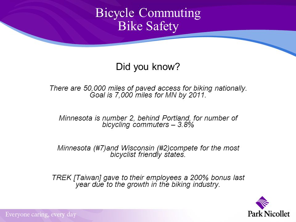 Bicycle Commuting Bike Safety Did you know.