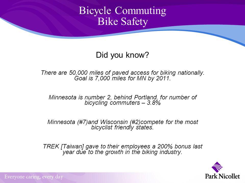 Bicycling Commuting Bike Safety Agenda C F B W T A & A T A D o V Theme Why.