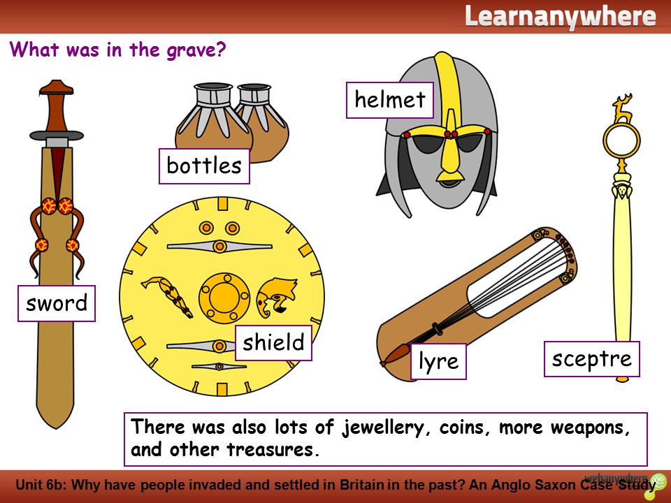 History Unit 6b: Why have people invaded and settled in Britain in the past? An Anglo Saxon Case Study What was in the grave? There was also lots of j