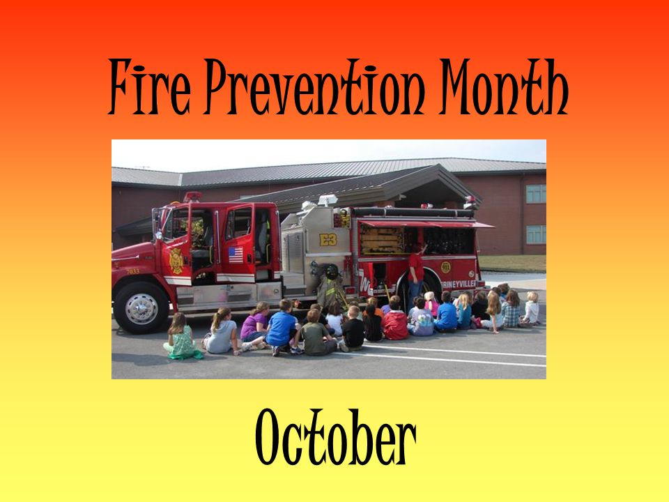 Fire Prevention Month October