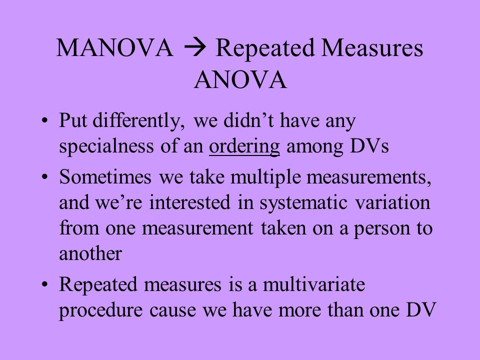Univariate and Multivariate Estimation It turns out there are two ways to do effect estimation One is a classic ANOVA approach.