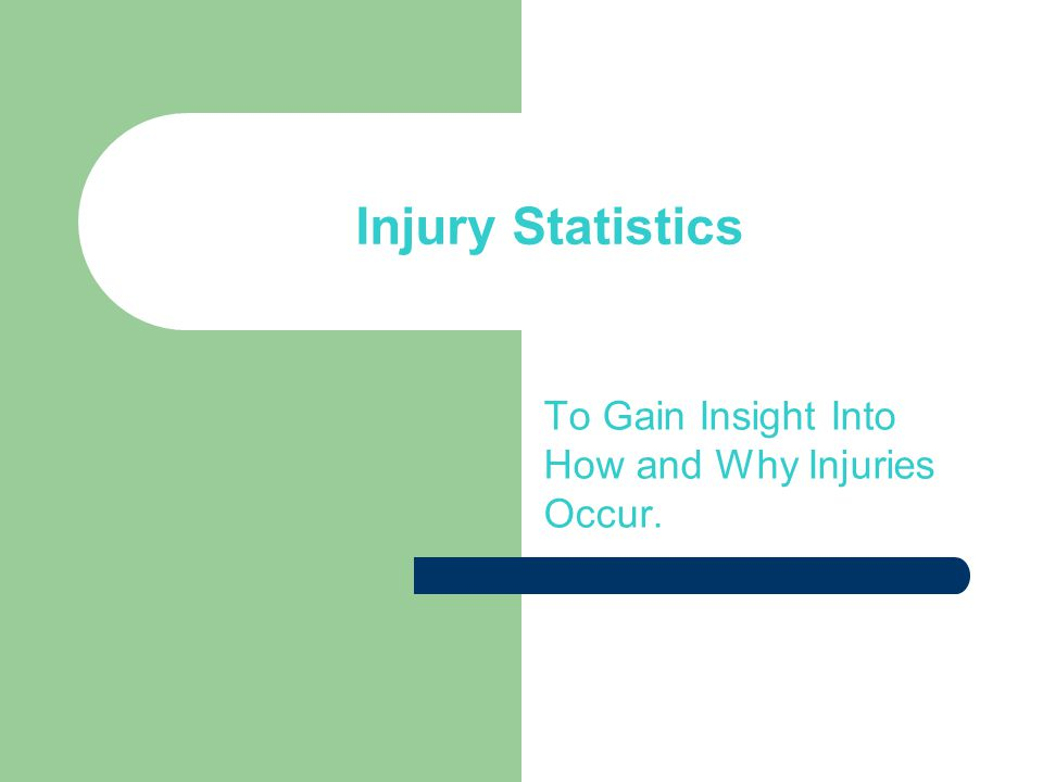Injury Statistics To Gain Insight Into How and Why Injuries Occur.