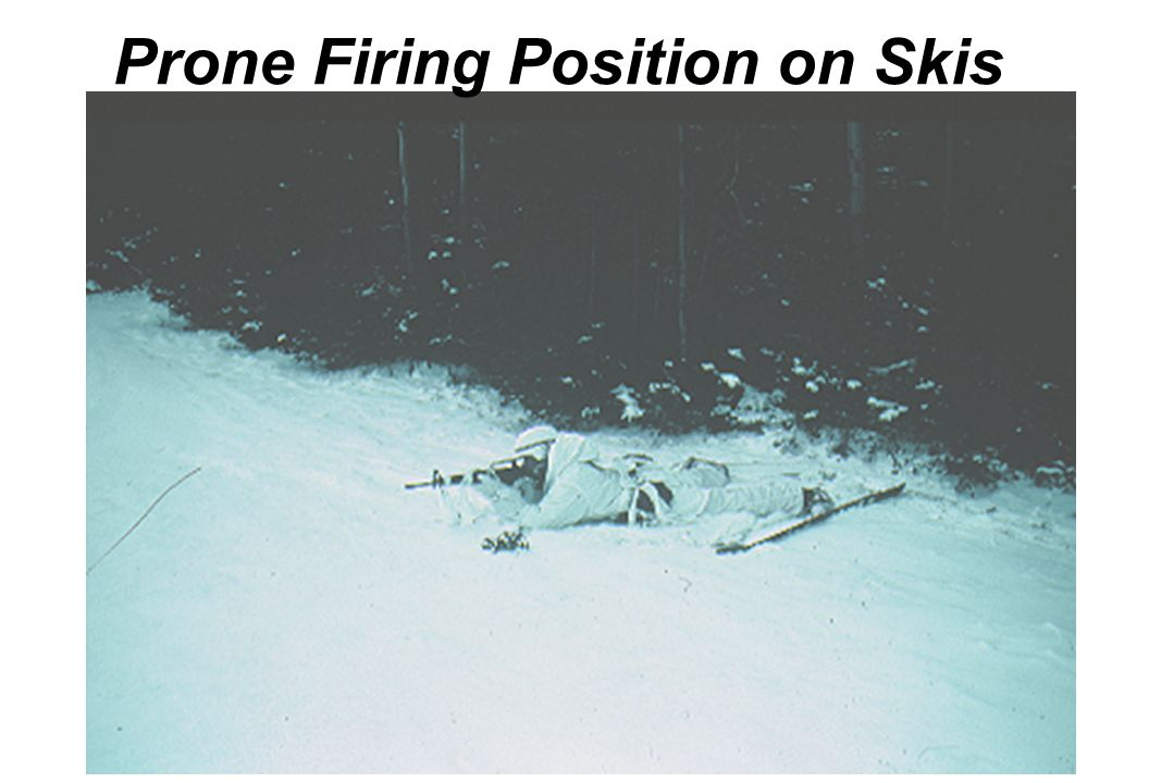 Prone Firing Position on Skis