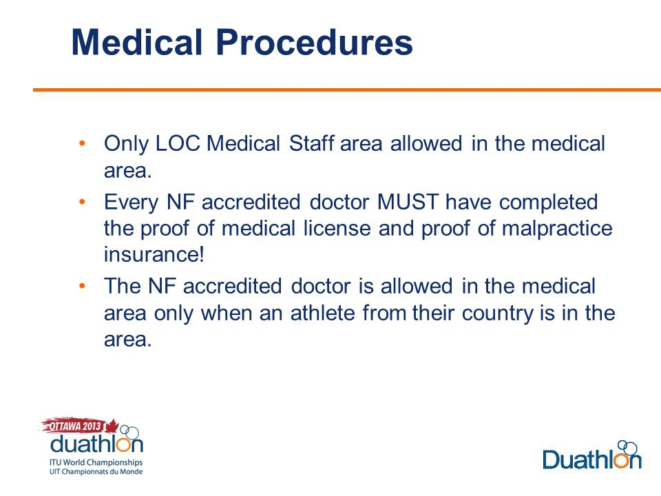 Medical Procedures Only LOC Medical Staff area allowed in the medical area.