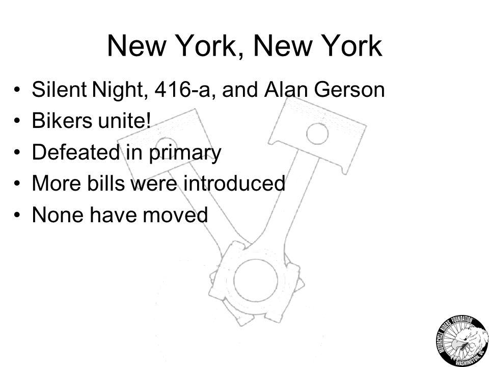 New York, New York Silent Night, 416-a, and Alan Gerson Bikers unite.