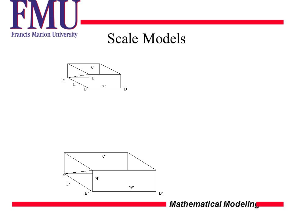 Mathematical Modeling Scale Models