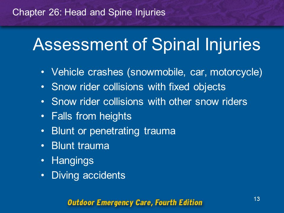 Chapter 26: Head and Spine Injuries 14 Questions to Ask Responsive Patients Does your neck or back hurt.