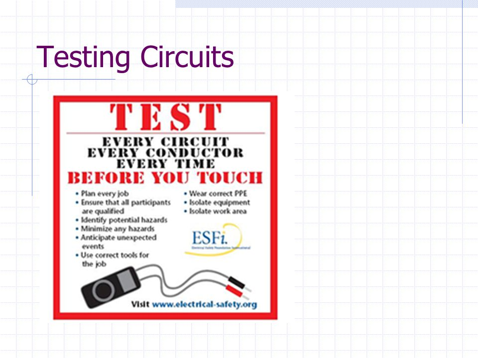 Testing Circuits