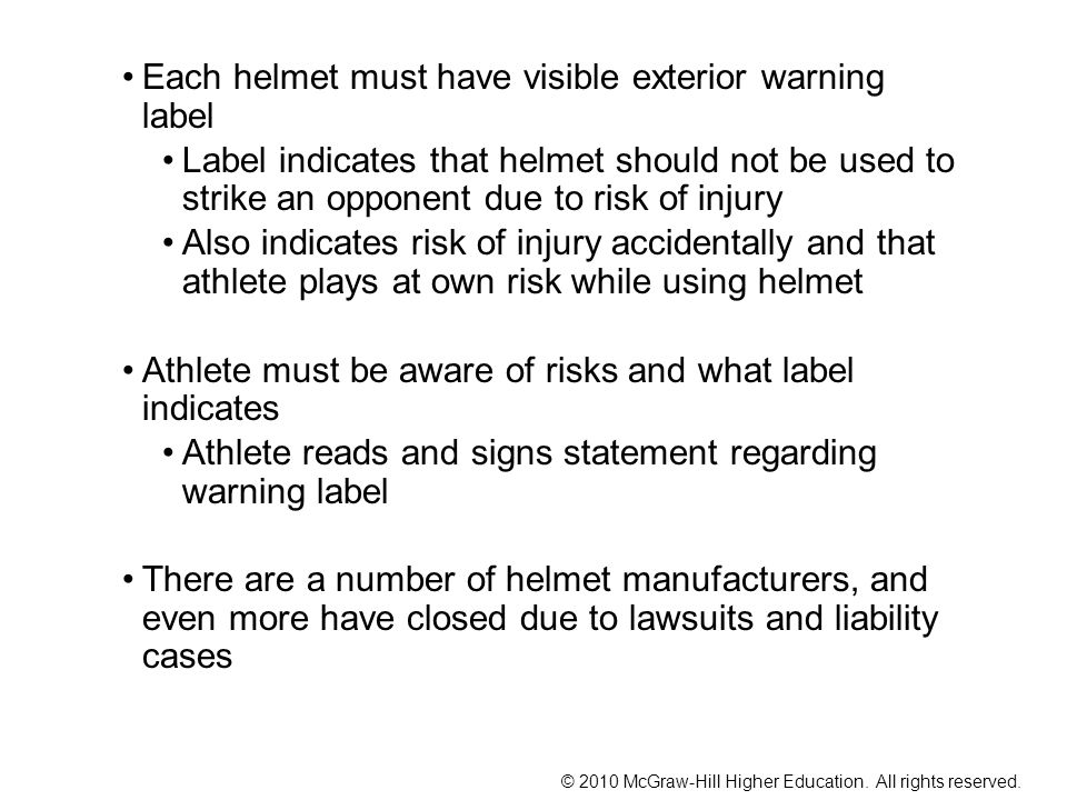 © 2010 McGraw-Hill Higher Education. All rights reserved. Mouth Guards