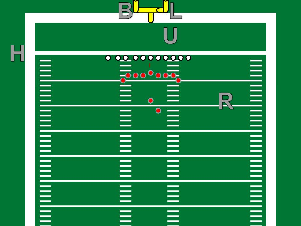 KEYS For scrimmage plays, the Linesman and Line Judge will always have initial responsibility for the widest eligible receiver to their side.