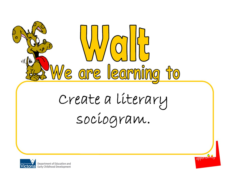 Create a literary sociogram.