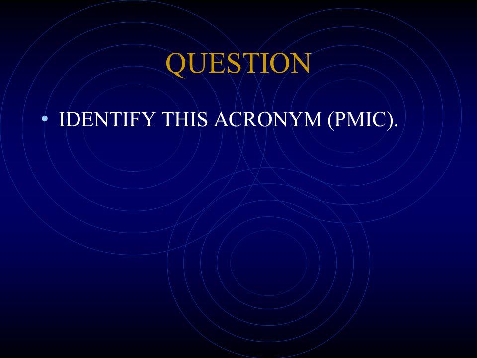 QUESTION IDENTIFY THIS ACRONYM (PMIC).